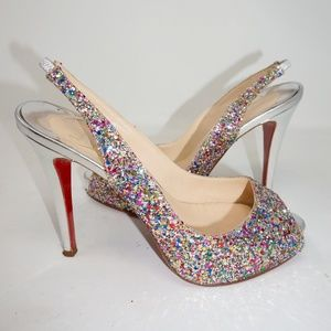 competitive price 2062c 0a394 Women Christian Louboutin Sparkly Heels on Poshmark